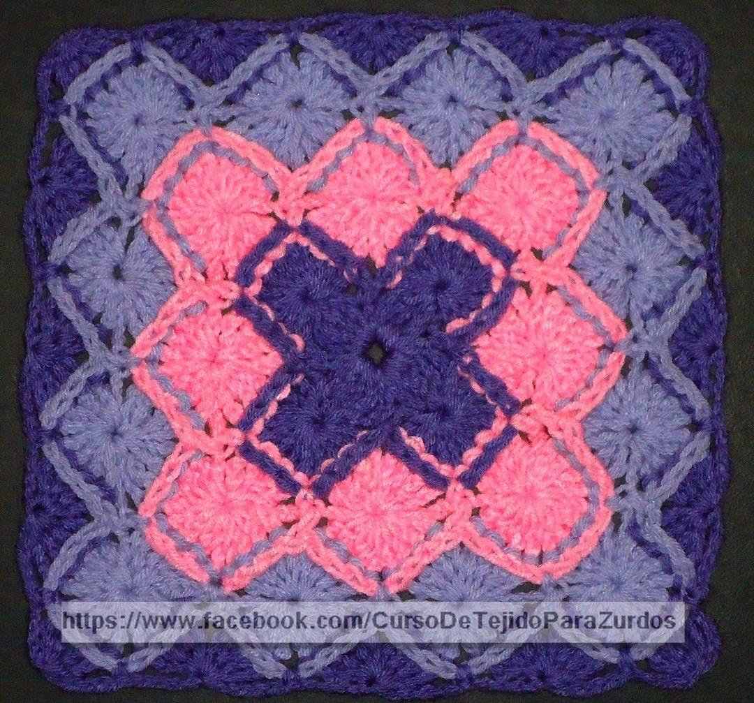 bavarian stitch punto fantasia tejido al crochet ganchillo para zurdos
