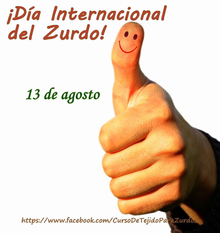 dia internacional del zurdo que teje al crochet ganchillo para zurdos
