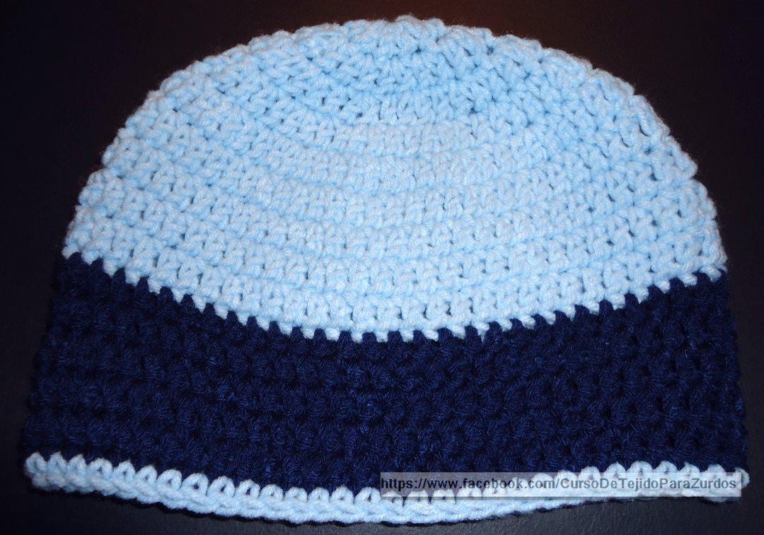 Como Tejer un Gorro al Crochet en Pocos Minutos -Tejido para Zurdos- b1413891677