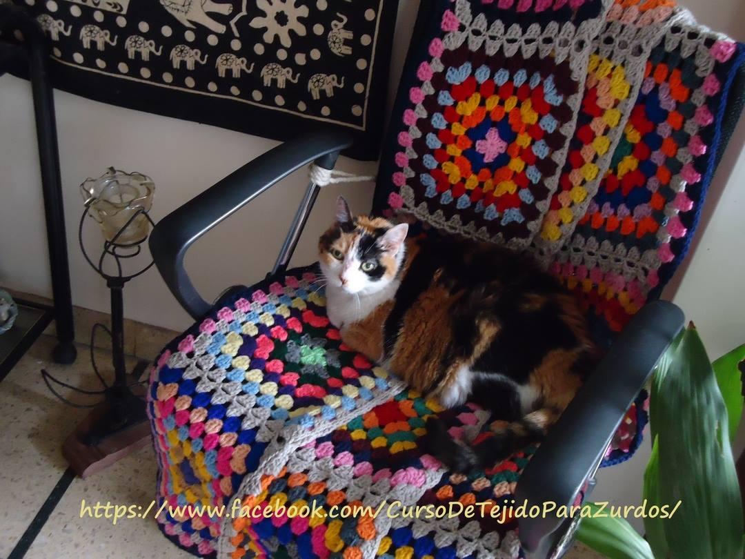 granny square tejido al crochet ganchillo para zurdos