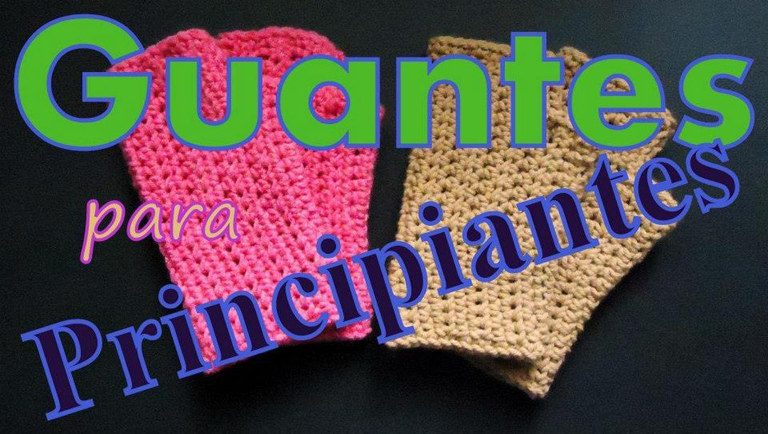 guantes tejidos al crochet ganchillo para zurdos