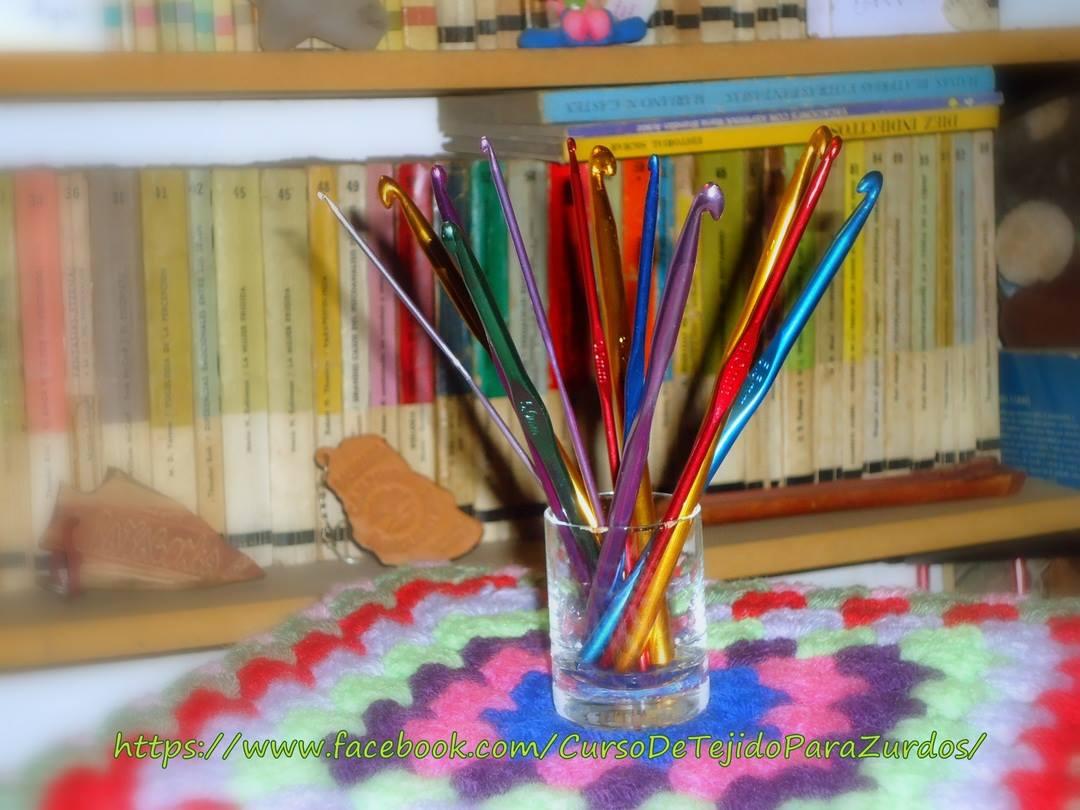 puntos básicos de tejido al crochet ganchillo para zurdos