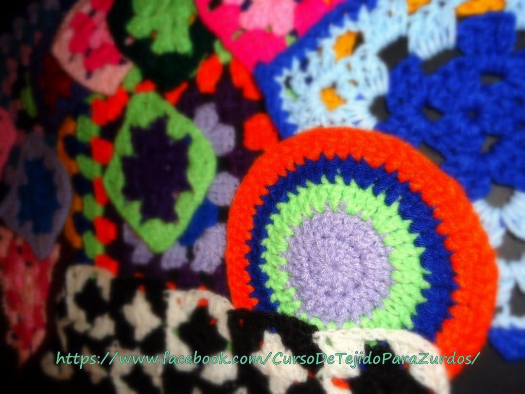 puntos básicos tejidos al crochet ganchillo para zurdos