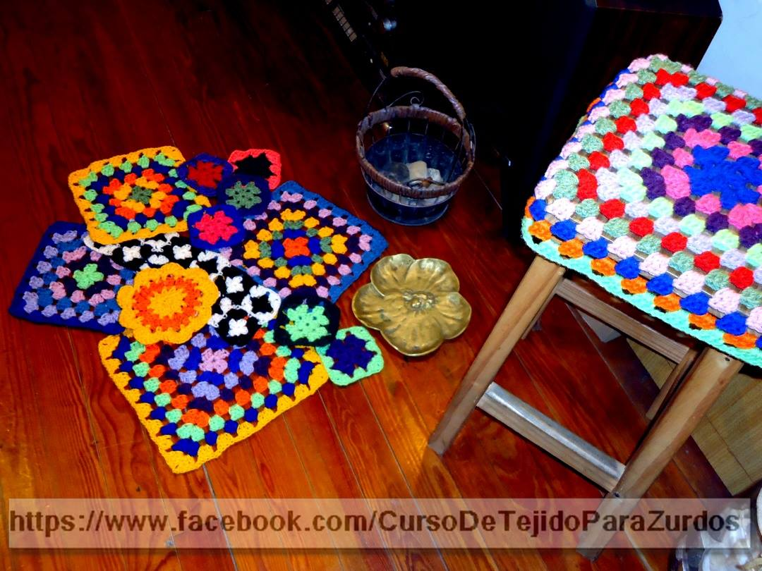 trucos y secretos del granny square tejido al crochet ganchillo para zurdos