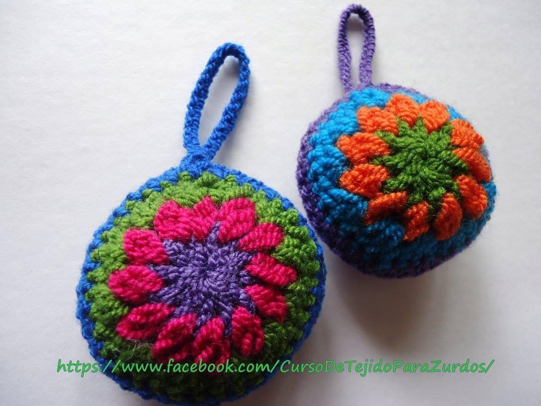 mandalas tejido al crochet ganchillo para zurdos