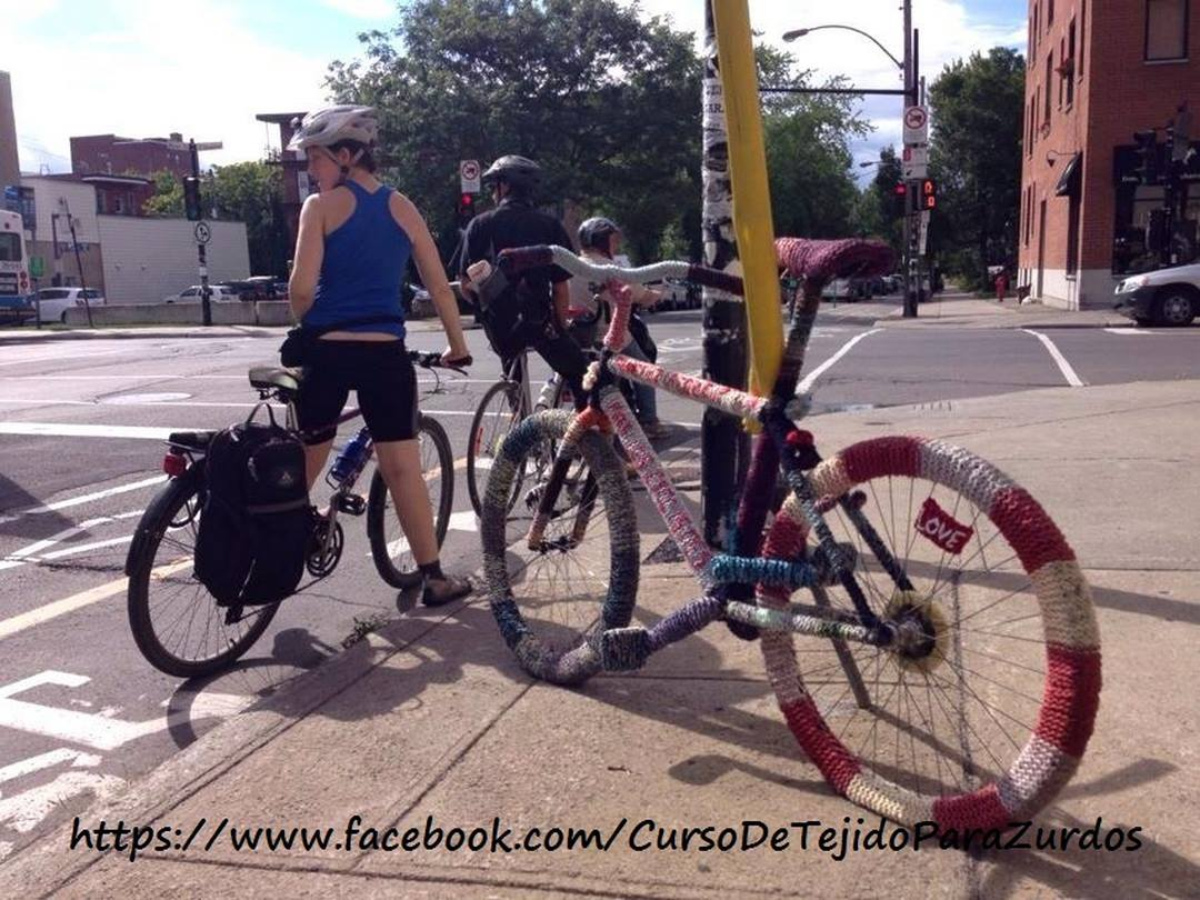 yarn bombing o urban art en canadá